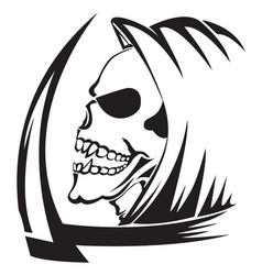 Tattoo of a grim reaper with scythe vintage vector