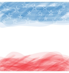 Usa flag a poster with a large scratched frame vector