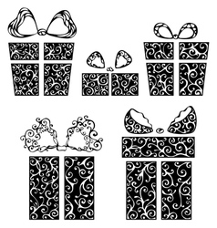 Vintage gifts vector image