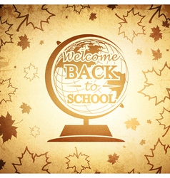 Vintage Globe Back to School vector image