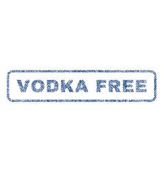 Vodka free textile stamp vector