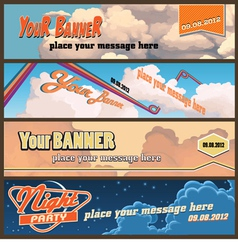 sky banners vector image