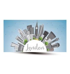 London Skyline with Gray Buildings Blue Sky vector image