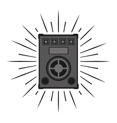 Big speaker sound isolated icon vector