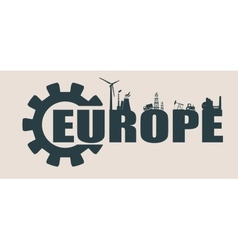 Energy and power icons europe word vector