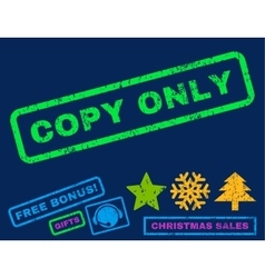 Copy only rubber stamp vector