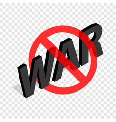 No war sign isometric icon vector