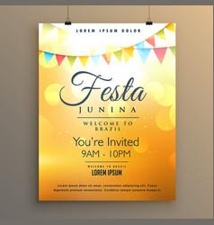 Latin american festa junina festival background vector