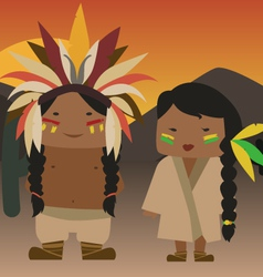 Native american indian vector