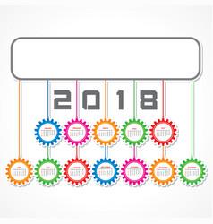 2018 calendar for new year celebration vector