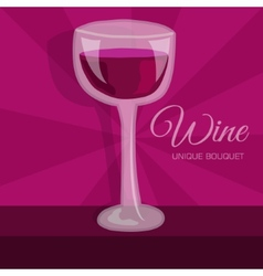 Colorful wine background concept vector