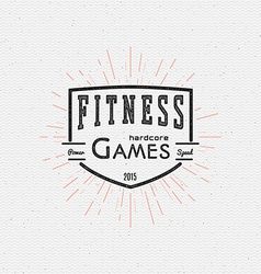 Fitness gym badges logos and labels for any use vector