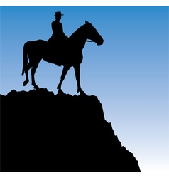 Man on the horse vector
