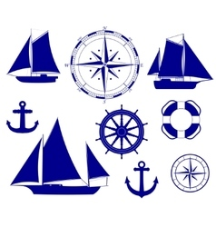 Ship nautical decoration vector