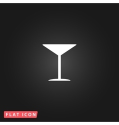 Martini glass icon vector