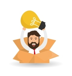 Idea design bulb icon solution concept vector