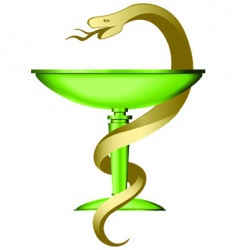 Caduceus on the white background vector