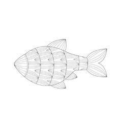 Aquarium Tropical Fish Sea Underwater Nature Adult vector image vector image