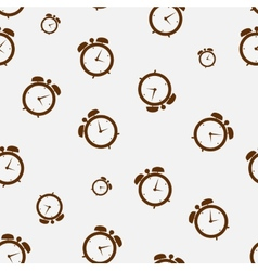 clock alarm icon seamless pattern backgroumd vector image