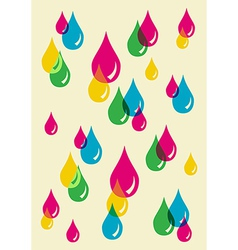 Colorful drops transparency pattern vector