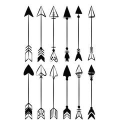decorative bow arrows vector image