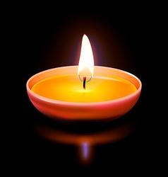 Diwali candle vector
