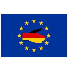 European handshake vector image