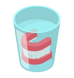 false jaw icon isometric 3d style vector image