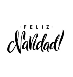 Feliz navidad merry christmas calligraphy vector