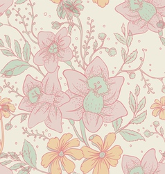 flowers back pattern vector image vector image