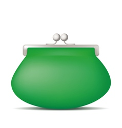 Green purse vector image vector image