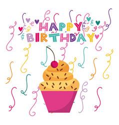 Happy birrhday cake celebration vector