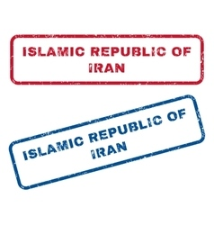 Islamic republic of iran rubber stamps vector