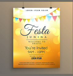 Latin american festa junina festival background vector