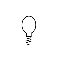 Light bulb simple linear icon vector