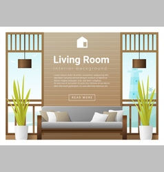 Living room Interior background 7 vector image
