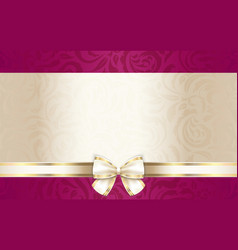 Luxury gift certificate with floral pattern and vector