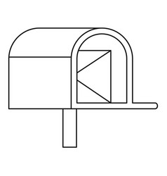 Mailbox with mail icon outline style vector