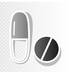 medical pills sign new year blackish icon vector image vector image