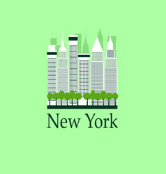 New york travel background vector