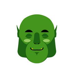 ogre sleeping emoji goblin asleep emotion vector image vector image
