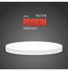 Photorealistic Winner Podium Stage Template vector image vector image