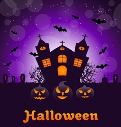 Poster banner or background for Halloween Party vector image vector image