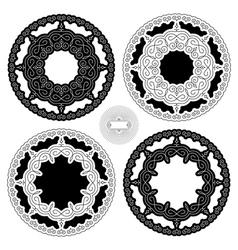 Set of ethnic circle elements mandala round orname vector