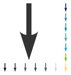 Sharp arrow down icon vector