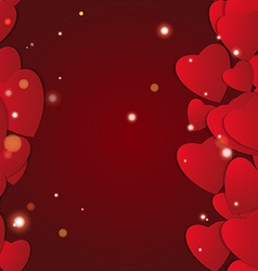 Valentines day abstract paper hearts love vector