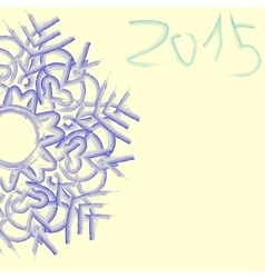 Watercolor blue snowflake vector