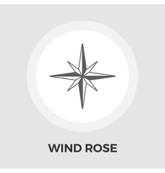 Wind rose flat icon vector image vector image