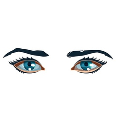 Women eyes vector
