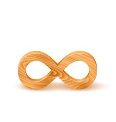 Wooden infinity symbol vector